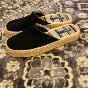 Keds black mule espadrilles flatform shoes
